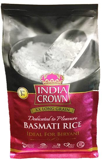 A New Packaging India Crown Basmati Rice